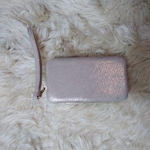 Handbags - Gold fabric wristlet